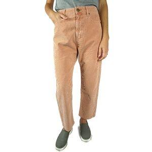NEW The Great. Rambler Corduroy Pink Pants Size 27